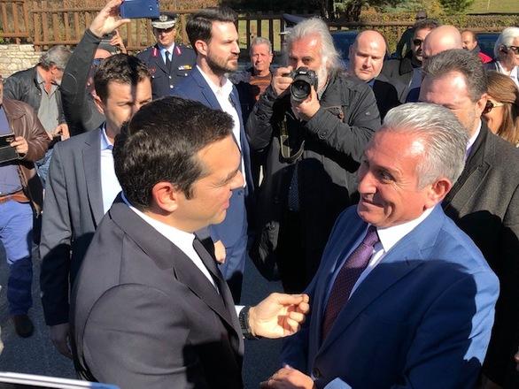 Καλάβρυτα: Ο Γιώργος Λαζουράς συναντήθηκε με τον Αλέξη Τσίπρα (φωτο)