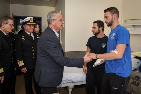 Επίσκεψη ΑΝΥΕΘΑ Παναγιώτη Ρήγα στο Ναυτικό Νοσοκομείο Αθηνών (φωτο)