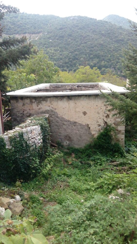 Χώρος οικοπέδου που οδηγεί στην είσοδο του κτιρίου
