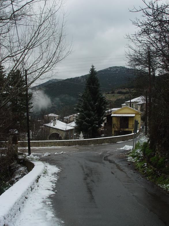 Δρόμος 20 μέτρα πριν την είσοδο του οικοπέδου