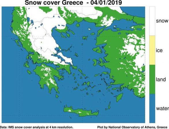 Καλυμμένο από χιόνι το 51% της χώρας - Στους -19 έφτασε το θερμόμετρο