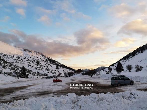 Το Χιονοδρομικό κέντρο του Μαινάλου από ψηλά (video)