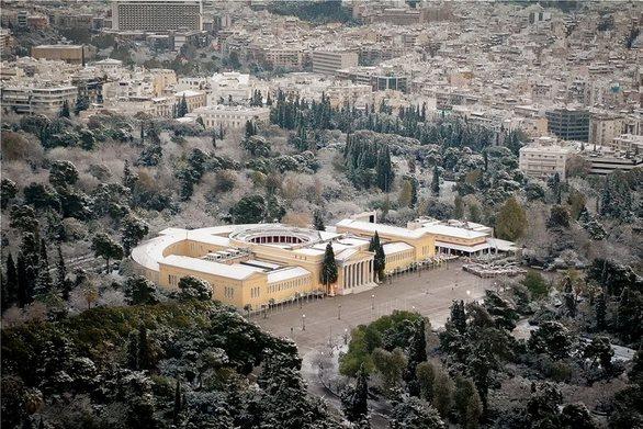 Χιόνια στην Ακρόπολη (φωτο)