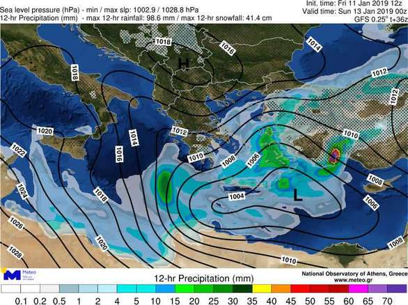 Δυτ. Ελλάδα: Επιμένουν οι βροχές και τα χιόνια στα ορεινά και σήμερα