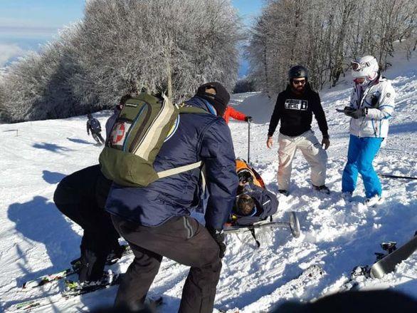 Τραυματίστηκαν σκιέρ στο Χιονοδρομικό Κέντρο Πηλίου (φωτο)