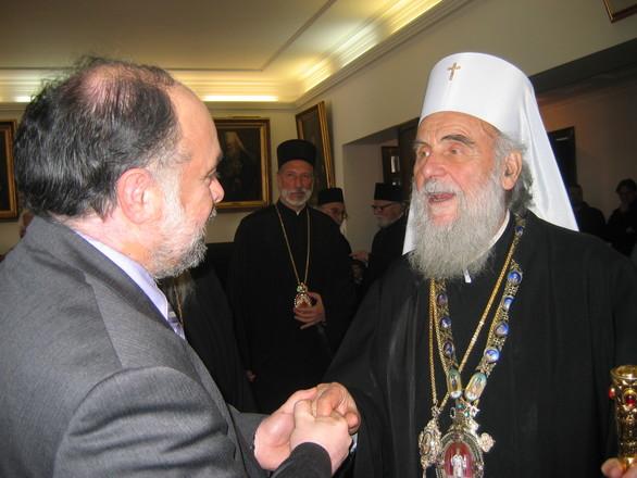 Στον πατριάρχη Σερβίας κ.κ. Ειρηναίο στο Βελιγράδι, συνάντησε ο Νίκος Τζανάκος (φωτο)