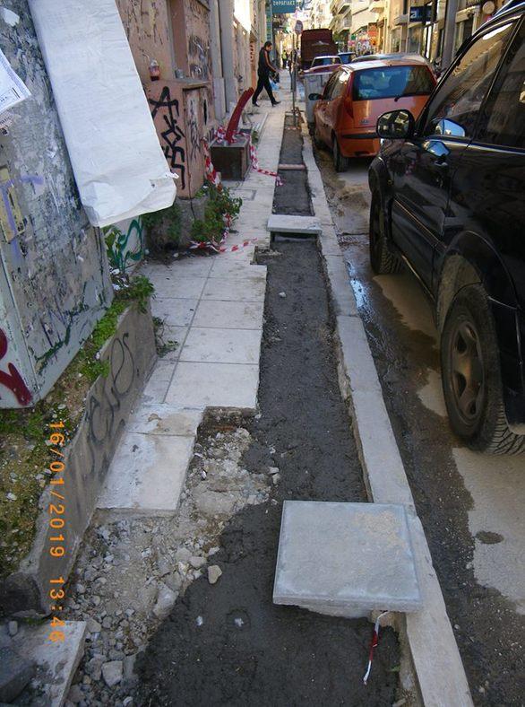 Αποκλεισμένα σημεία του κέντρου της Πάτρας λόγω... έργων (pics)