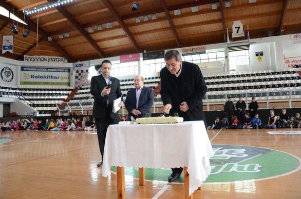 Πάτρα: O K. Πελετίδης στην κοπή πίτας του Απόλλωνα και της ΝΕΠ (φωτο)