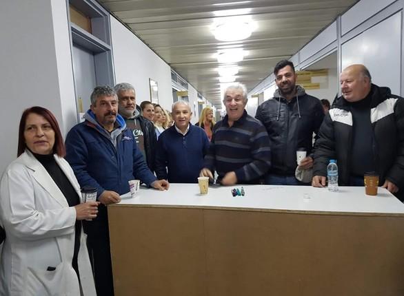 Πάτρα: Κατάληψη στο νοσοκομείο του Αγίου Ανδρέα (φωτο)