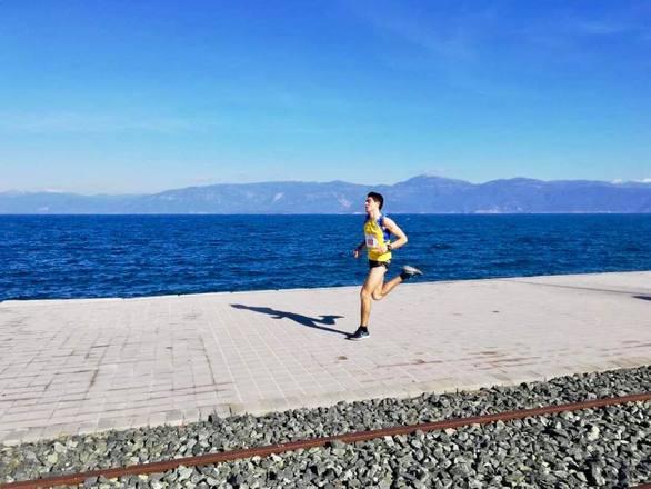 Ο Νικόλαος Γεωργίου που τερμάτισε πρώτος στο αγώνα των 5,6 χλμ.