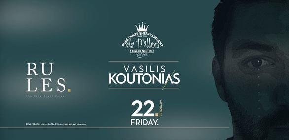 Vasilis Koutonias at Rules Club