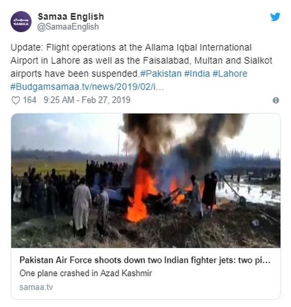 Ινδία - Πακιστάν: Στα πρόθυρα πολέμου μετά τις καταρρίψεις μαχητικών