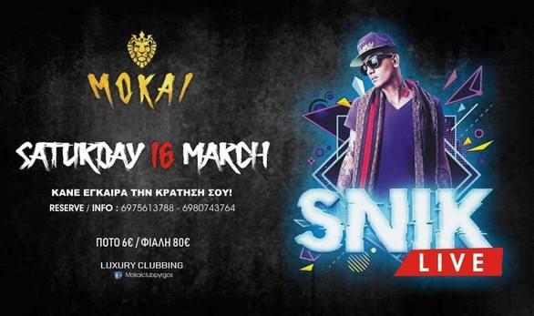 Snik live at Mokai club