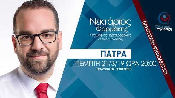 Παρουσίαση Ψηφοδελτίου: Νεκτάριος Φαρμάκης στο Επίκεντρο+