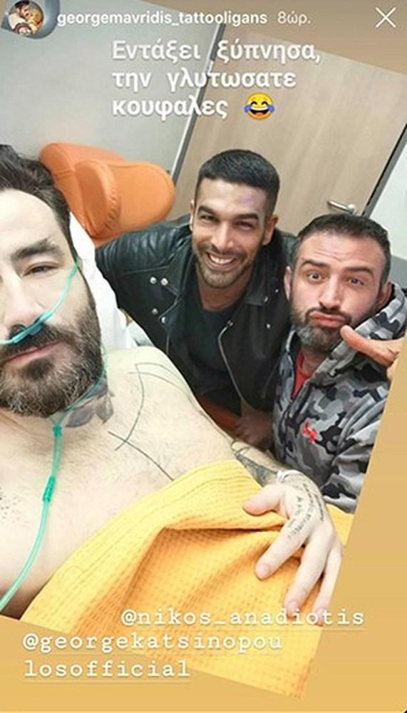 Γιώργος Μαυρίδης - H πρώτη φωτογραφία μετά το χειρουργείο