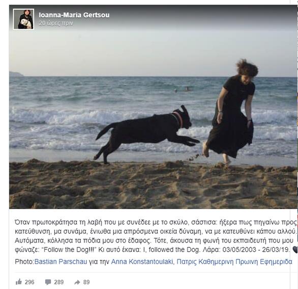 Πέθανε η Λάρα, ο πρώτος σκύλος - οδηγός τυφλών στην Ελλάδα