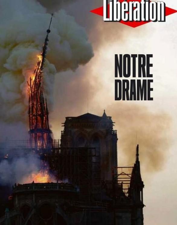Το συγκλονιστικό εξώφυλλο της Liberation για την Παναγία των Παρισίων