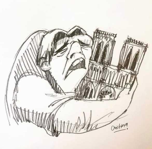 Tο κλάμα του Κουασιμόδου με την Παναγία των Παρισίων αγκαλιά