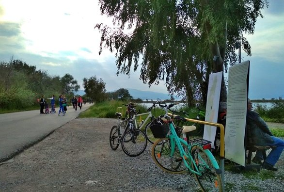 Ένα ξεχωριστό απόγευμα στο Αίγιο - Ποδηλατάδα στην παραλία της Αλυκής (φωτο)