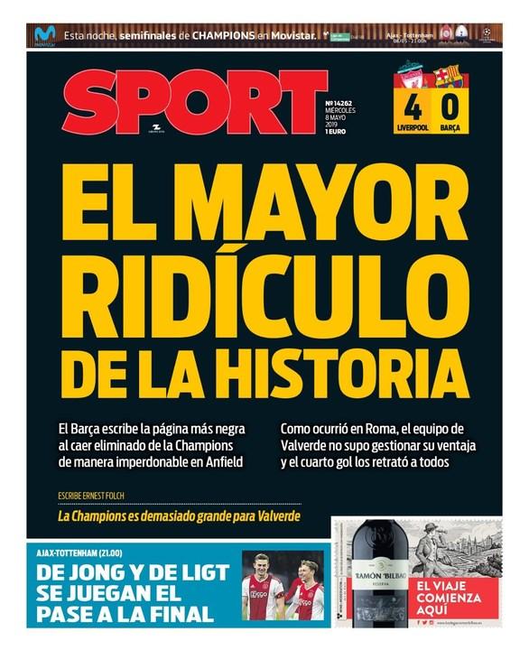 Σφοδρή κριτική από την εφημερίδα Sport σε Μπαρτσελόνα και Βαλβέρδε