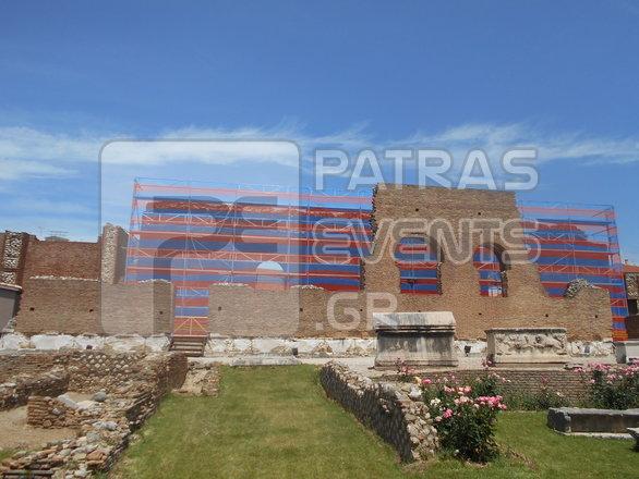 """Το Ρωμαϊκό Ωδείο της Πάτρας """"φρεσκάρεται"""" εξωτερικά εν όψει καλοκαιριού (pics)"""