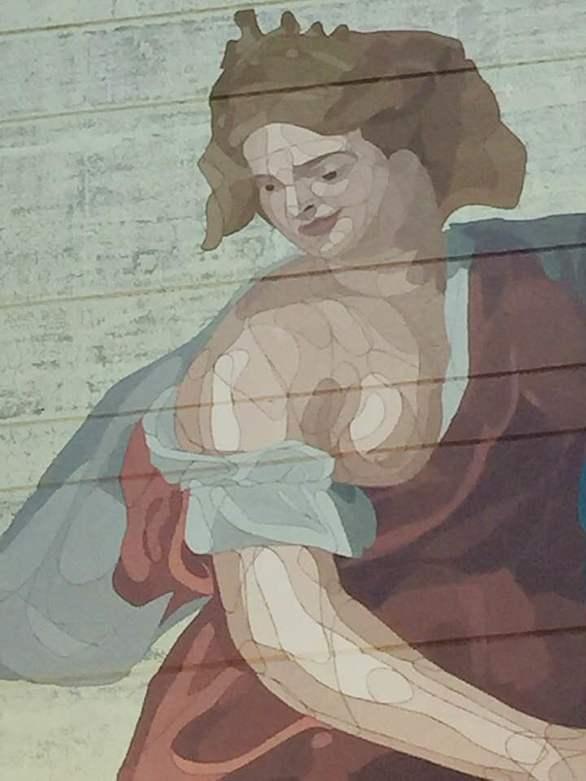 Ο Taquen ζωγράφισε τη θεά της γονιμότητας, έξω από τη μαιευτική κλινική του Π.Γ.Ν.Π. (φωτο)
