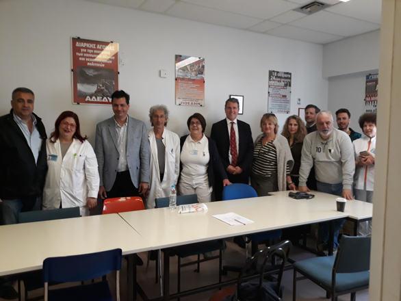"""Το """"σπιράλ"""" και ο Πέτρος Ψωμάς στο Πανεπιστημιακό Γενικό Νοσοκομείο Πατρών (φωτο)"""