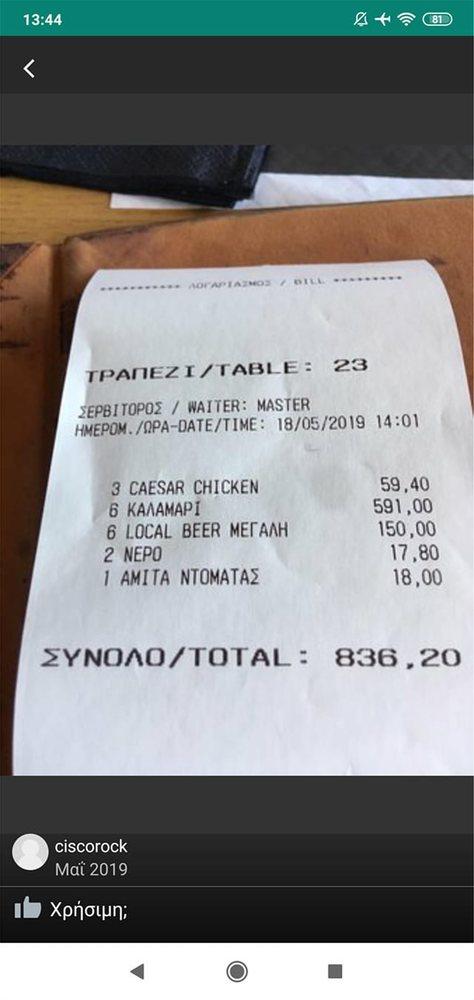 Μύκονος: Τουρίστας πλήρωσε 836 ευρώ για καλαμαράκια και μπύρες!
