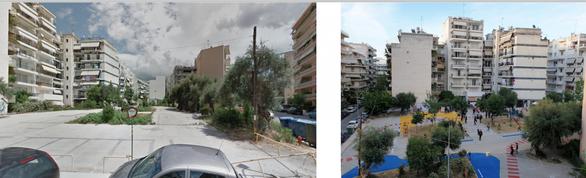 Η πλατεία πριν και μετά...