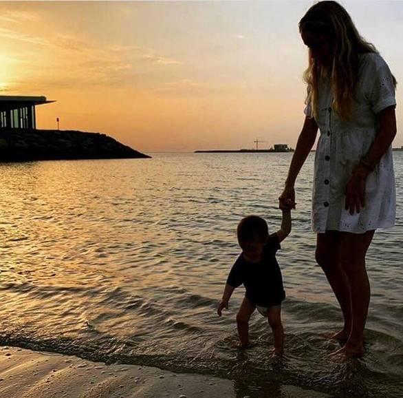 Η Δούκισσα Νομικού ανέβασε φωτογραφία με τον μικρό Σάββα