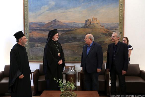 Συνάντηση του Προέδρου της Βουλής με τον Σεβασμιότατο Αρχιεπίσκοπο Αμερικήςκ. Ελπιδοφόρο (φωτο)