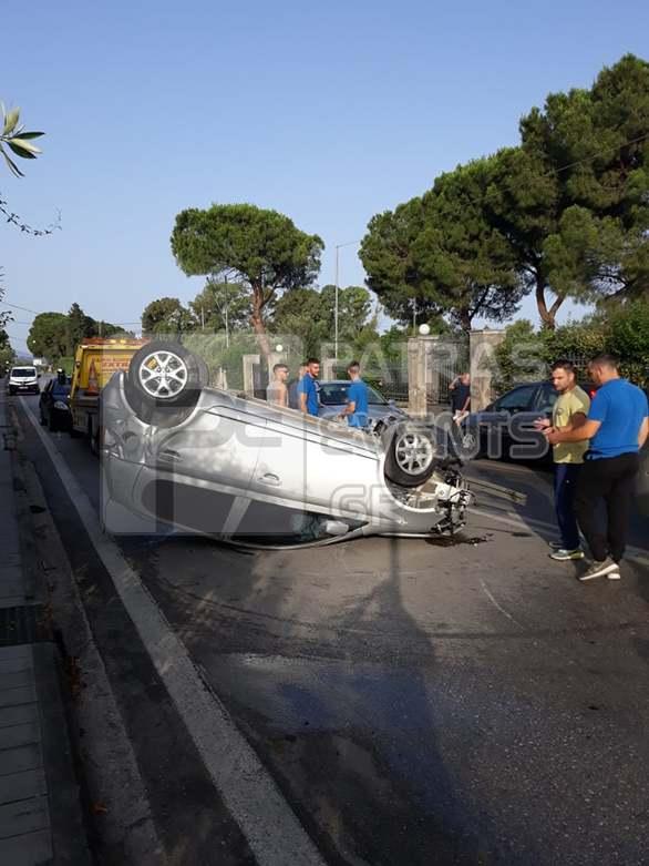 Πάτρα: Σοβαρό τροχαίο ατύχημα στην περιοχή της Παραλίας (φωτο)