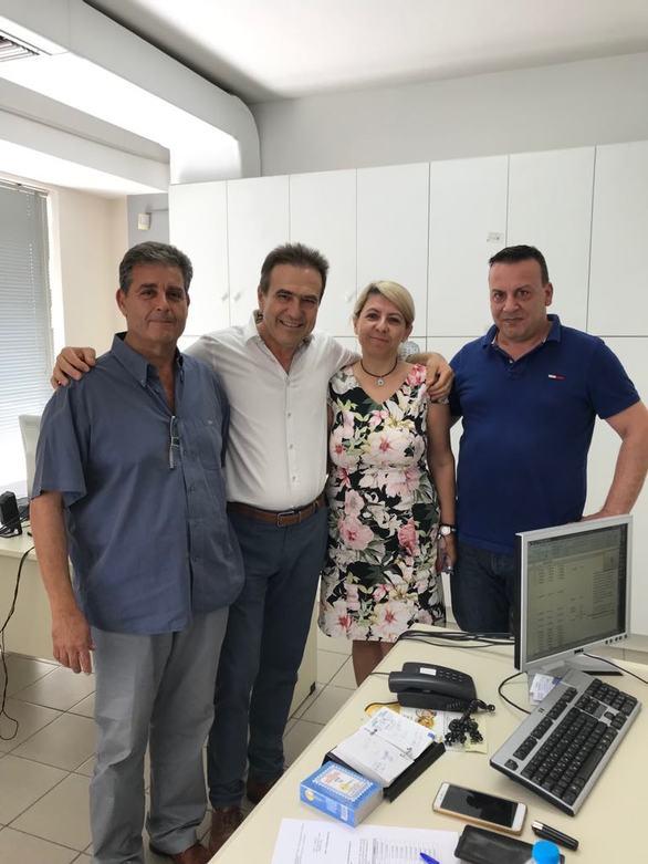 Πάτρα - Επισκέψεις του Γιώργου Κουτρουμάνη στις Εφορίες και στο ΣΔΟΕ