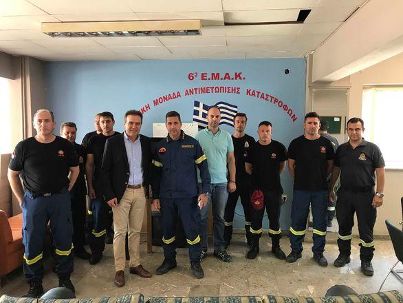 Πάτρα: Ο Γιώργος Κουτρουμάνης επισκέφθηκε την Αστυνομία και την Πυροσβεστική