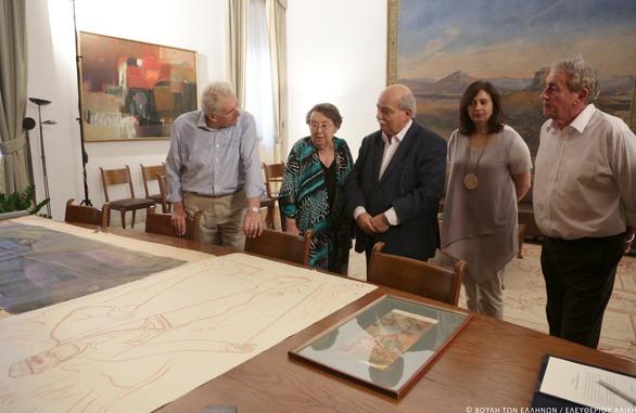 Δωρεά έργων τέχνης του ζωγράφου και χαράκτη Βάλια Σεμερτζίδη προς τη Βιβλιοθήκη της Βουλής των Ελλήνων