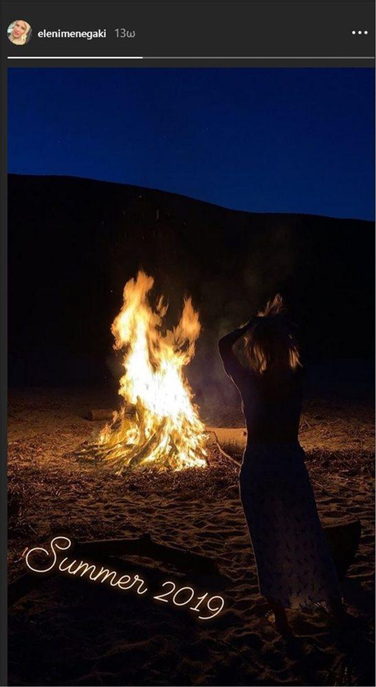 Η Ελένη Μενεγάκη βάζει... φωτιά στη νύχτα!