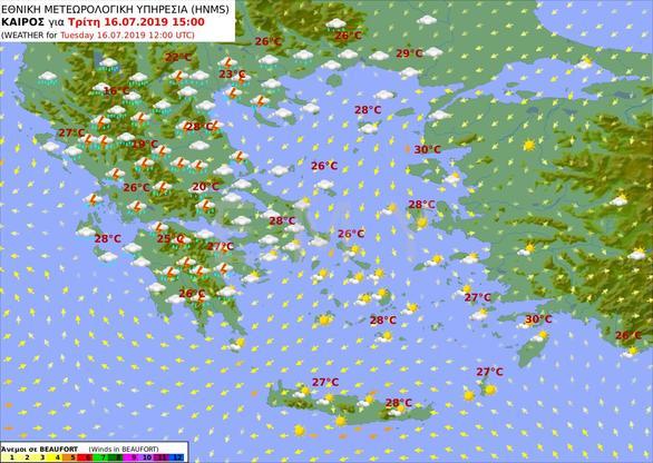 Επιδείνωση του καιρού με καταιγίδες και θυελλώδεις άνεμους στη Δυτική Ελλάδα
