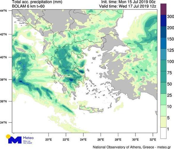 """Δυτική Ελλάδα - """"Αντίνοος"""": Αναμένονται ισχυρές καταιγίδες, χαλάζι και άνεμοι (χάρτες)"""