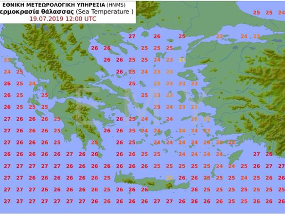 Ζεσταίνουν οι θάλασσες της Δυτικής Ελλάδας, είναι καιρός για μπάνια - Δείτε το χάρτη