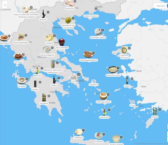 Τα κορυφαία ελληνικά προϊόντα σε ένα χάρτη!