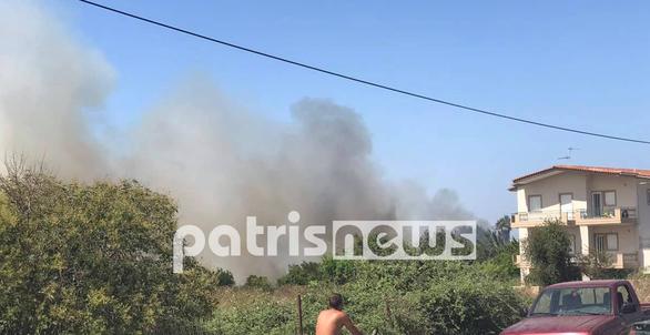 Δυτική Ελλάδα - Φωτιές εκδηλώθηκαν σε Αίγιο και Βάρδα (φωτο+video)