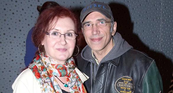 Με το σύζυγό της Χάρη Γρηγορόπουλο