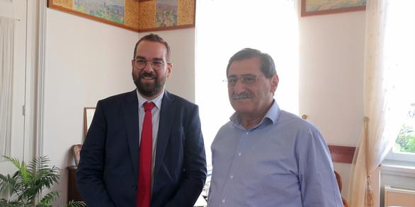 Πάτρα: O Δήμαρχος δέχτηκε την επίσκεψη του Περιφερειάρχη (φωτο+video)