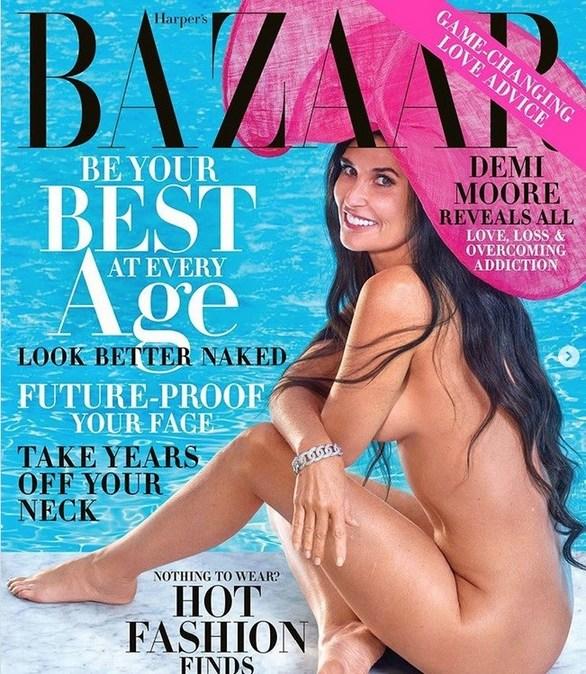 Η Demi Moore γυμνή, στο τεύχος Οκτωβρίου του Harper's Bazaar! (φωτο)
