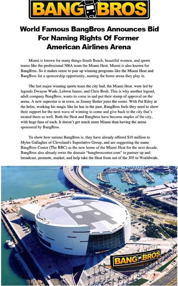 Εταιρεία «ροζ» ταινιών έκανε προσφορά στους Μαϊάμι Χιτ για το γήπεδο