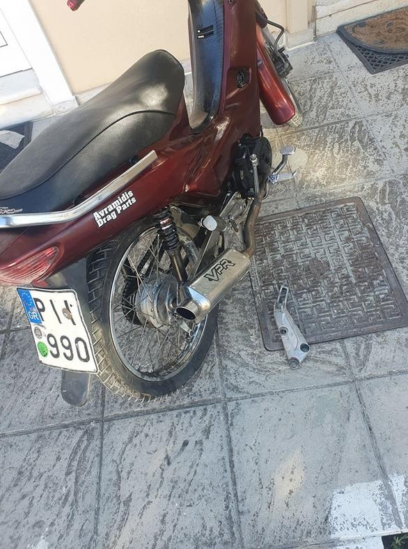 Πάτρα - Εκλάπη μηχανάκι από τα Ζαρουχλέικα (φωτο)