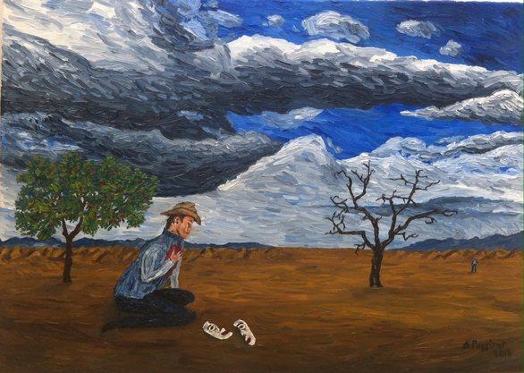 Δημήτρης Ρογγίτης - Ο 20χρονος Πατρινός vegan εικαστικός που ζωγραφίζει με το συναίσθημα (pics)