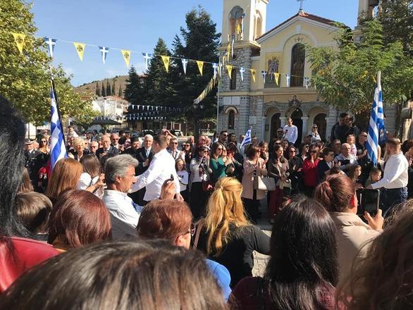Στα Καλάβρυτα ο Αντιπεριφερειάρχης, Φωκίωνας Ζαΐμης, για την 28η Οκτωβρίου (φωτο)