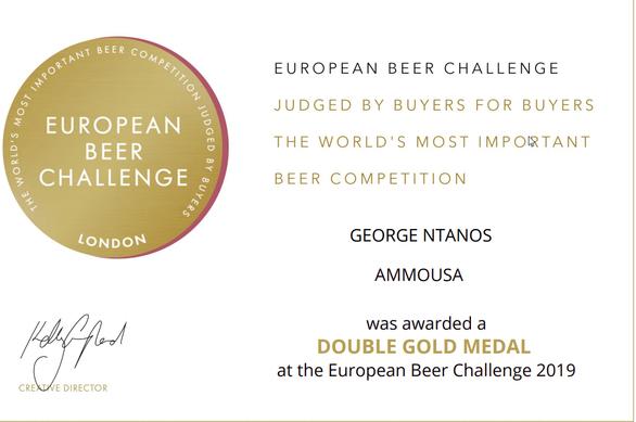 Double Gold Medal για την Πατρινή Ammousa στο European Beer Challenge 2019!