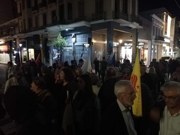 Πάτρα: Ξεχωριστή πορεία από τη Νομαρχιακή του ΣΥΡΙΖΑ Αχαΐας (φωτο)